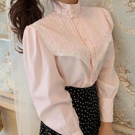 baby pink vintage lace blouse