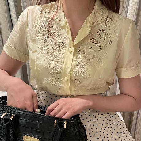 Honey cream blouse