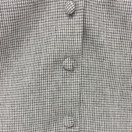 172SH11【再入荷】【Mieux】細チェックサテンフリルシャツ