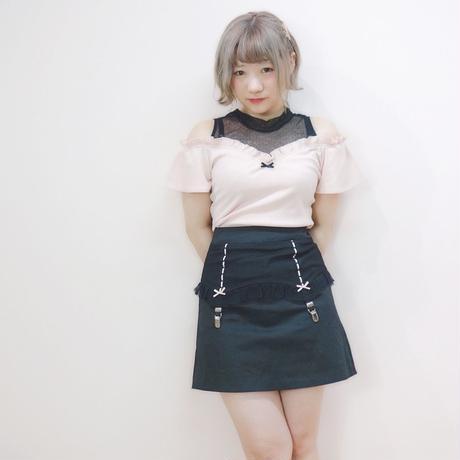 172TP48 【Mieux】レイヤードランダムテレコ o/s TOPS