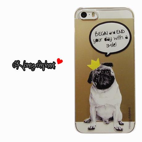 【iPhoneSE/5s/5】♥Bestseller♥Animal pop case PUG