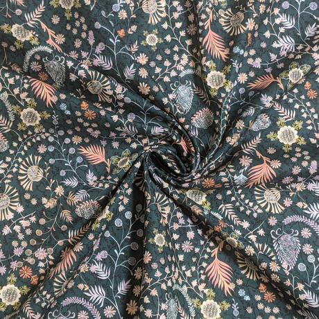 ◆輸入 リバティ LIBERTY タナローン Crochet Meadows C クロッシェメドウ グリーン 約135×50cm