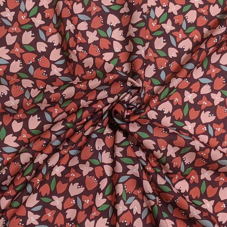 ◆輸入 リバティ LIBERTY タナローン Scattered Petals スキャタードペタルス レッド 約135×50cm