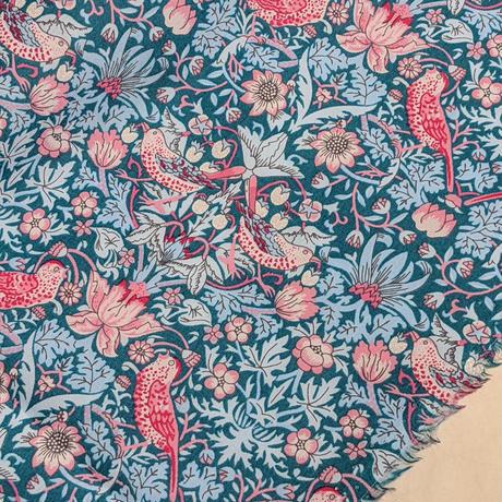カットクロスセット(幅33×30cm)💎輸入 リバティ LIBERTY タナローン Strawberry Thief ストロベリーシーフ 幅33×30cm 7カラーセット