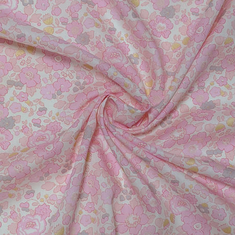 サイズ要確認◆輸入 リバティ LIBERTY タナローン Betsy Metallic Pink★ ベッツィ メタリックピンク 約135×48cm
