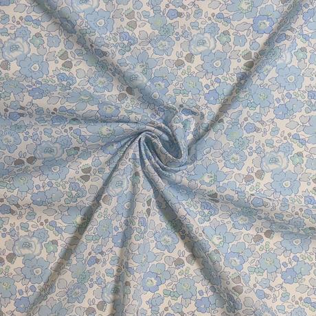 サイズ要確認◆輸入 リバティ LIBERTY タナローン Betsy Metallic Blue★ ベッツィ メタリック ブルー 約135×48cm