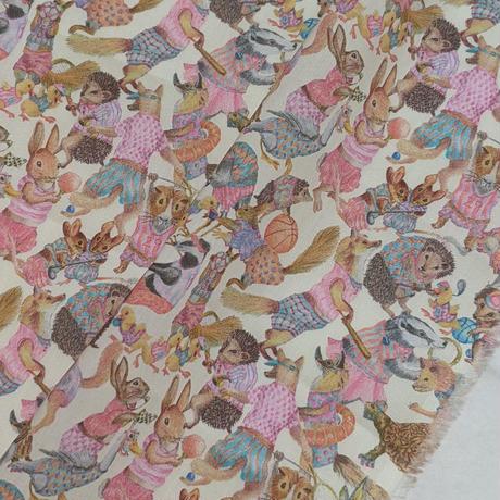 ◆輸入 リバティ LIBERTY タナローン Hullabaloo ハラバルー ピンク 約135×50cm