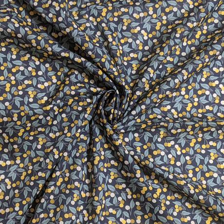 ◆輸入 リバティ LIBERTY タナローン Cherry Drop チェリードロップ イエロー 約130×50cm
