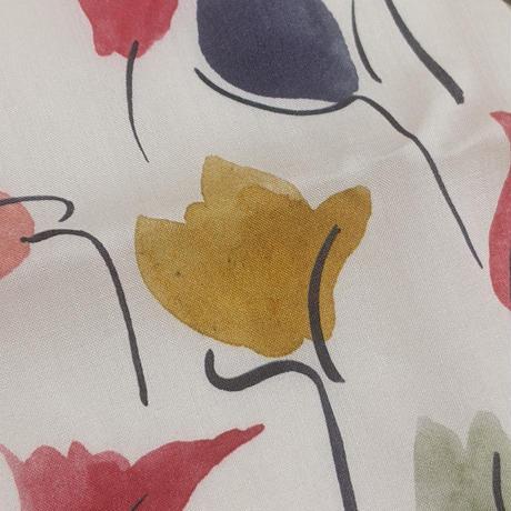 ◆輸入 リバティ LIBERTY タナローン Tulip Shadow Red チューリップシャドウ レッド 約135×50cm
