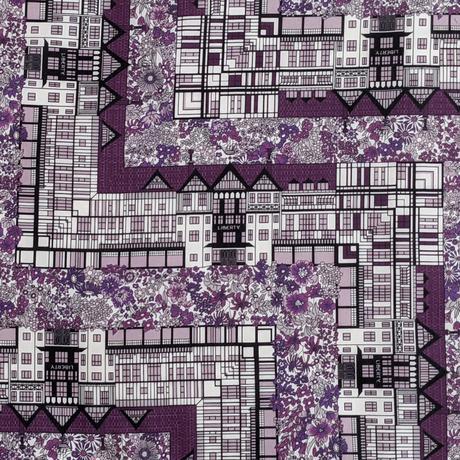 ◆輸入 リバティ LIBERTY タナローン Tudor Belle Purple チューダーベル パープル 約135×50cm