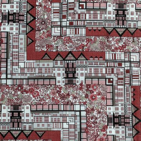 ◆輸入 リバティ LIBERTY タナローン Tudor Belle Red チューダーベル レッド 約135×50cm