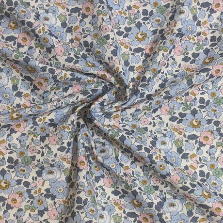 サイズ要確認●輸入 リバティ LIBERTY 二重ガーゼ ダブルコットン Betsy Bleu Denim ベッツィ ブルーデニム 約150×25cm