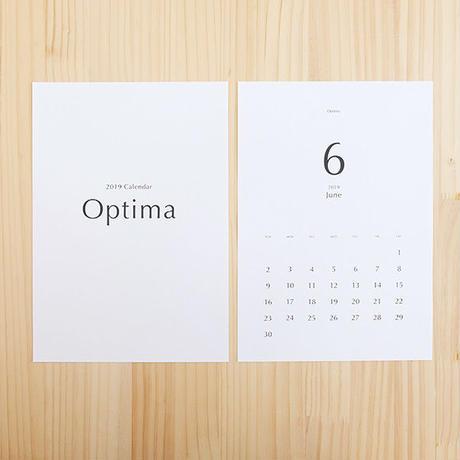 美しいフォントで綴るカレンダー2019[Optima]
