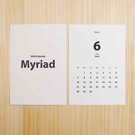 美しいフォントで綴るカレンダー2021[Myriad]