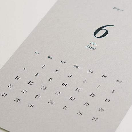 美しいフォントで綴るカレンダー2021[Bodoni]