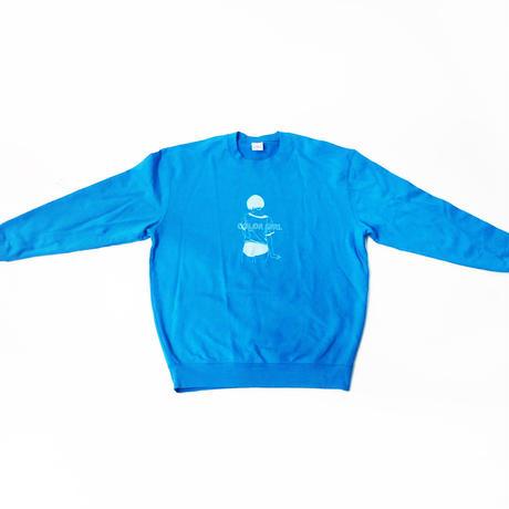 古塔つみ 『shadow』turquoise blue / 【COLOR GIRL】sweat