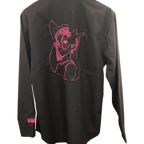 古塔つみ /【COLOR GIRL Vol.2】 刺繍 LS shirts