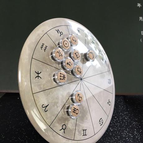 M-014 #ホロスコープ台座 満月モデル+クリアカフェオレ豆惑星マグネット