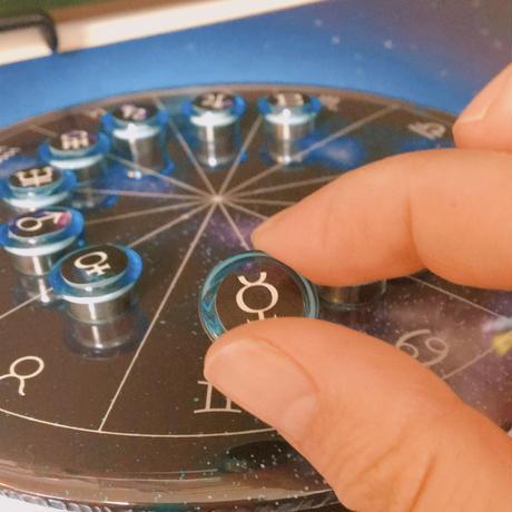M-018 新作!ホロスコープ台座  シンプル宇宙モデル +ブルーマグネット付