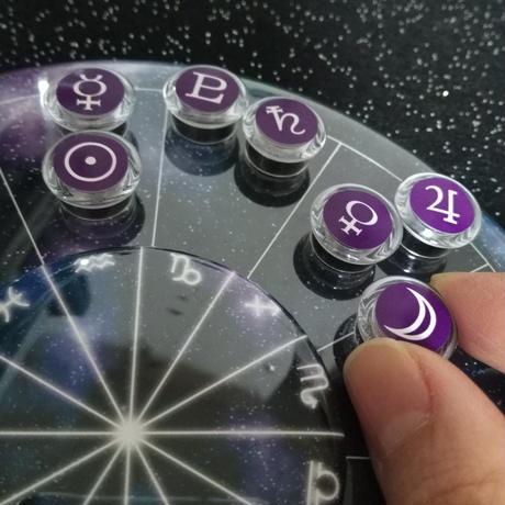 M-012 #豆惑星マグネットジェネリック 宇宙台座にぴったりの射手座カラー 10個セット(※マグネットのみ単品販売)