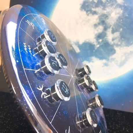 M-021 ホロスコープ台座  シンプル宇宙モデル +箔押しマグネット 感受点付きスペシャルセット