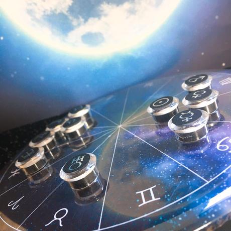 M-022 ホロスコープ台座  シンプル宇宙モデル +箔押しマグネット10天体セット