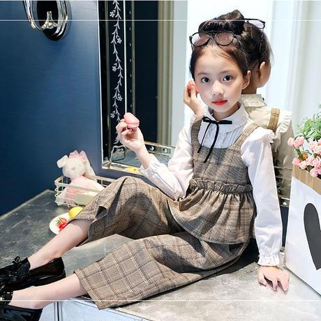 キッズ服 2018 秋冬 【 グレンチェック グレー 130 】