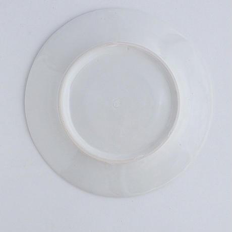 河合竜彦 白釉玉縁リム皿M