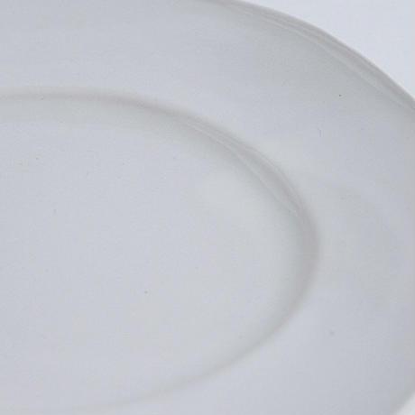 河合竜彦 白釉玉縁オーバルリム皿M