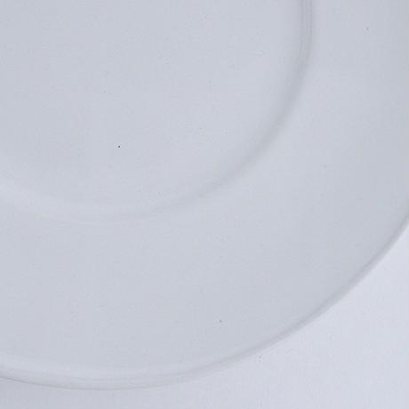 河合竜彦 白釉玉縁リム皿L