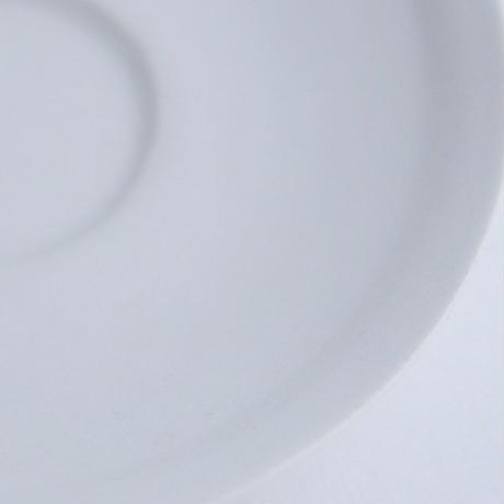 河合竜彦 白釉淵丸リム皿S