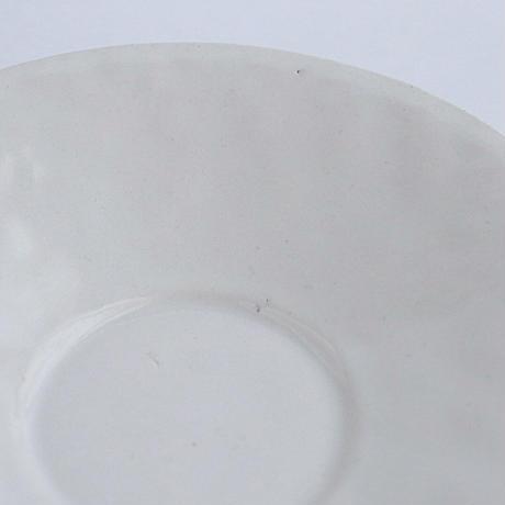 河合竜彦 白釉手びねり五寸皿