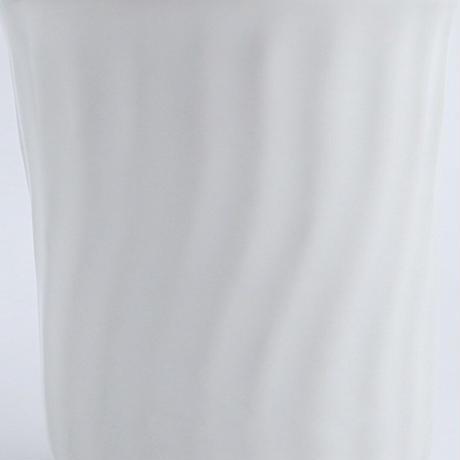 河合竜彦 白釉湯のみ