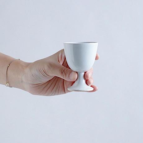 河合竜彦 青白足付き茶杯