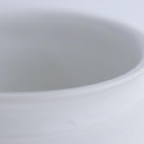 河合竜彦 白釉筒型花入