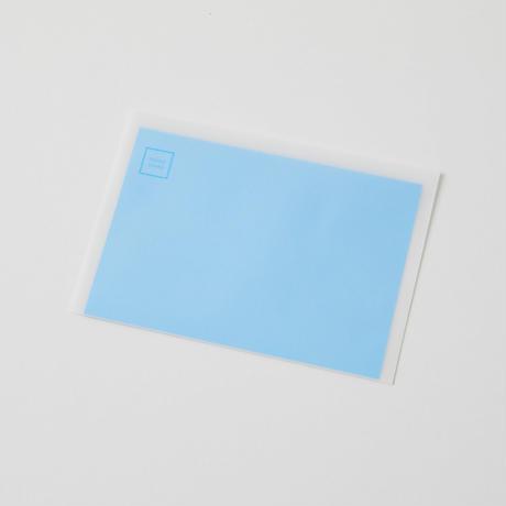 青の一枚で繋がっている「レターセット」