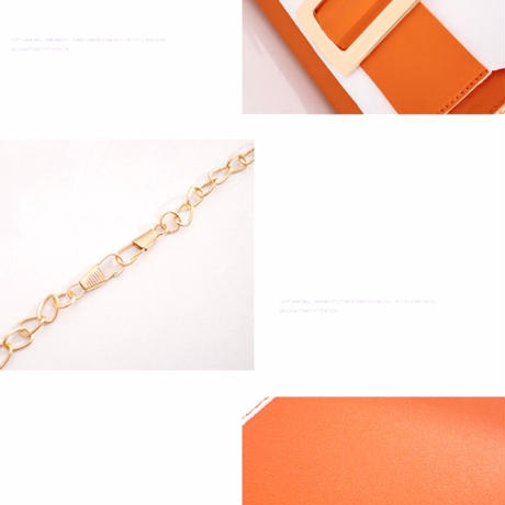 BLACK♡bi-color golg  belt  bag-11