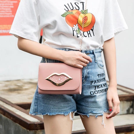 PINK☆kiss mark  shoulder bag−10