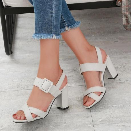 GRAY★simple  belt  sandal  sho-24