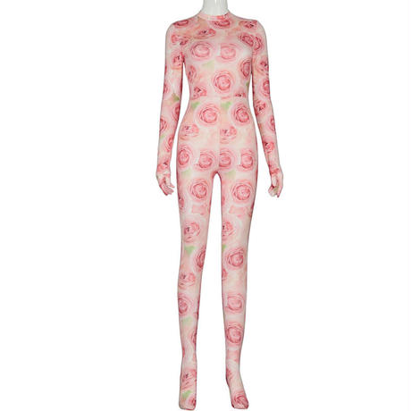 pink  rose suit   one-222