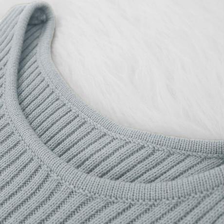 GRAY★turtleneck  knit  setup one-152