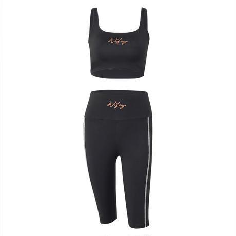 BLACK★wikey training  wear  one-232