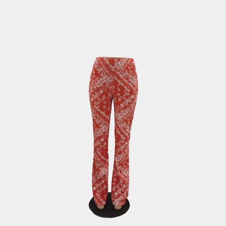 RED ★PAISLEY   Pants  bot-55