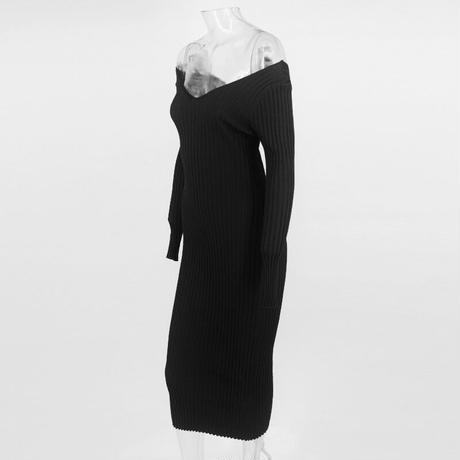 BLACK★knit  dress  one-160