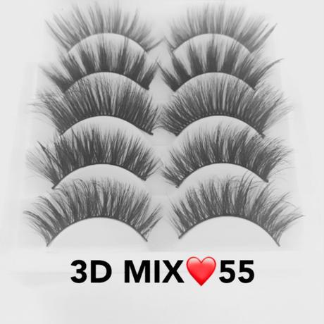 MIX★3D mink★false eyelashes♡A55  cos-12