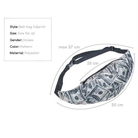 ドル札プリント♡ウエストポーチ  bag-14