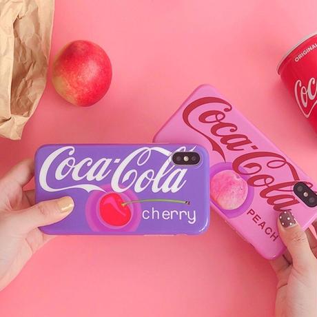 purple♡チェリー  iPhoneソフトケース