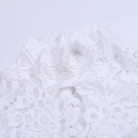 WHITE★lathe up  leotard