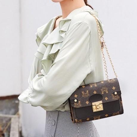 PINK♡bi-color logo   shoulder bag-08
