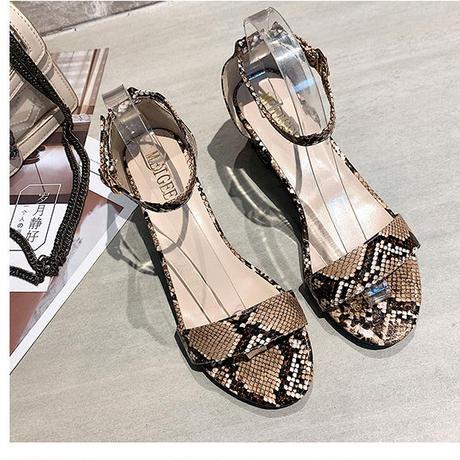 BROWN★python柄★uncle   strap  sandal  sho-13